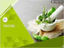 건강을지켜주는약초학/조상훈 (1주차 1강)